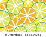 citrus texture background with ... | Shutterstock .eps vector #656814361