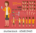 creation set of beautiful young ... | Shutterstock .eps vector #656815465