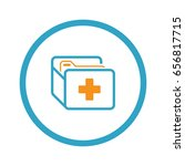 medical records icon. flat... | Shutterstock .eps vector #656817715