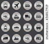 set of 16 editable shipment... | Shutterstock .eps vector #656817919