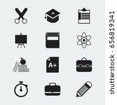 set of 12 editable knowledge...   Shutterstock .eps vector #656819341