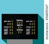cricket scoreboard vector... | Shutterstock .eps vector #656839267