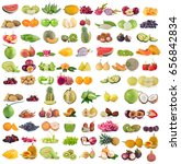 fruits isolated on white... | Shutterstock . vector #656842834