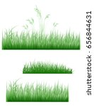 illustration of cute grass set  ... | Shutterstock . vector #656844631