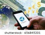 "concept of  ""ripple""   a...   Shutterstock . vector #656845201"