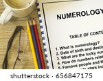 Small photo of How numerology affect destiny concept- with contents of a lecture cover sheet.