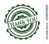 green thank you distressed... | Shutterstock .eps vector #656849869