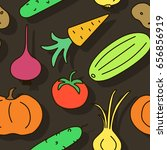 seamless pattern with fresh... | Shutterstock .eps vector #656856919