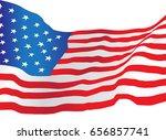 usa america flag vector drawn | Shutterstock .eps vector #656857741