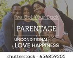 family parentage home love... | Shutterstock . vector #656859205