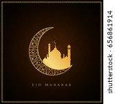 abstract religious eid mubarak... | Shutterstock .eps vector #656861914