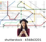 route map destination... | Shutterstock . vector #656863201