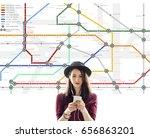 route map destination... | Shutterstock . vector #656863201