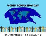 world population day | Shutterstock .eps vector #656863741