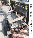 wooden chair. chair in floor.   Shutterstock . vector #656877601
