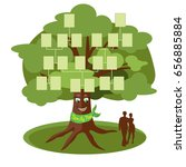 family tree template with empty ... | Shutterstock .eps vector #656885884