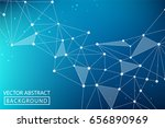 geometric graphic background.... | Shutterstock .eps vector #656890969
