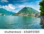 lugano  canton ticino ... | Shutterstock . vector #656893585