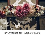 stylish roses decor at wedding... | Shutterstock . vector #656894191