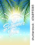 beautiful summer beach and... | Shutterstock .eps vector #656895085