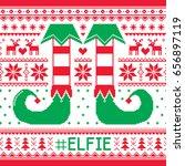 elfie  elfie christmas... | Shutterstock .eps vector #656897119