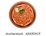 delicious turkish pizza... | Shutterstock . vector #65690419