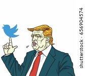 donald trump and social media... | Shutterstock .eps vector #656904574
