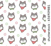 seamless pattern of hand drawn... | Shutterstock .eps vector #656909881