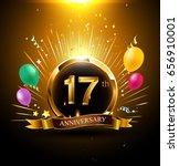 17 years golden anniversary... | Shutterstock .eps vector #656910001