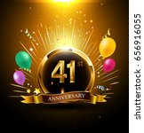 41 years golden anniversary... | Shutterstock .eps vector #656916055