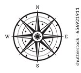 vector black and white compass... | Shutterstock .eps vector #656921911