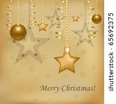 christmas and new year... | Shutterstock .eps vector #65692375