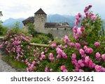 medieval castle in vaduz ... | Shutterstock . vector #656924161