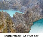 colorful crater lakes of... | Shutterstock . vector #656925529