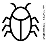 bug vector icon | Shutterstock .eps vector #656930794