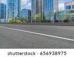 empty asphalt road front of... | Shutterstock . vector #656938975