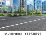 empty asphalt road front of...   Shutterstock . vector #656938999