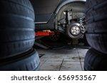 inside a garage   modern car... | Shutterstock . vector #656953567