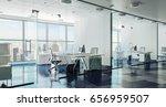 3d modern office interior render | Shutterstock . vector #656959507