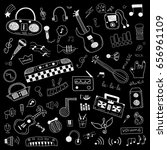 music symbols doodle set   Shutterstock .eps vector #656961109