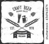 craft beer badge. vector... | Shutterstock .eps vector #656961874