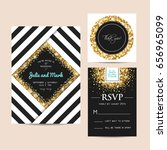 stylish set of wedding... | Shutterstock .eps vector #656965099