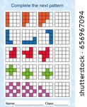 slot the pattern  complete the... | Shutterstock .eps vector #656967094