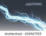 lightning and thunder bolt or...   Shutterstock .eps vector #656967535