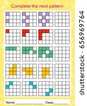 slot the pattern  complete the... | Shutterstock .eps vector #656969764