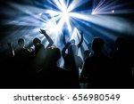 people dancing in party club...   Shutterstock . vector #656980549