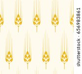 vector seamless wheat  barley... | Shutterstock .eps vector #656983861