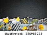 construction collage od dark... | Shutterstock . vector #656985235