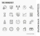 time management thin line icons....   Shutterstock .eps vector #656993221