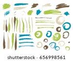vector brush stroke. grunge ink ... | Shutterstock .eps vector #656998561